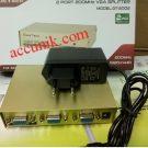 Vga Spliter pembagi output sharing 2 port 2 On