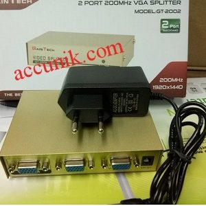 Vga Spliter pembagi output sharing 2 port 2 On