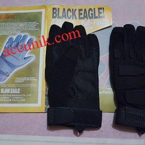 sarung tangan hitam black eagle full jari kualitas terbaik