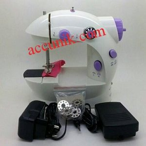 Mesin Jahit Portable Sewing Machine LTG + lampu 2 benang