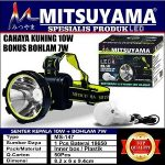 senter kepala sinar kuning Ms-147 + led bohlam