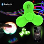 mainan Fidget spinner LED bluetooth speaker 3in1