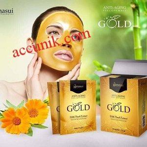 Hanasui Gold Peel Off Mask BPOM Original (naturgo Gold)