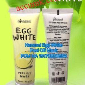 Jual Hanasui Masker Egg White Peel Off Masker telur pengangkat komedO