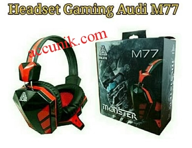Jual headset game m77 + mic head set gaming
