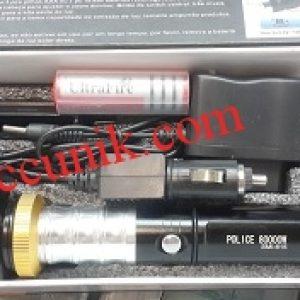 Senter police tekuk panjang spesial edition + magnet zoom tactical