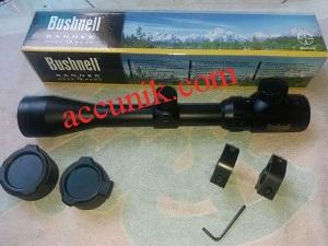 jual teropong senapan Bushnell gold 3-9x40 flip RGB zoom