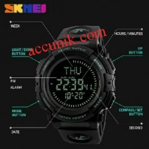 jam tangan sport original skmei dg1290 kompas tahan air