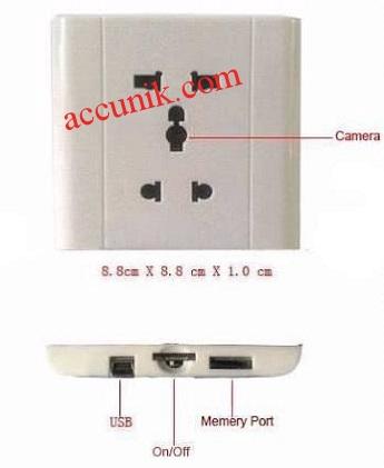 Jual kamera pengintai tersembunyi stop kontak slim murah