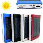 Jual Powerbank tenaga matahari besi LED terang