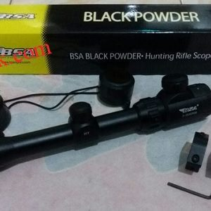 Jual telescope sniper senapan angin riflescope black powder BSA 3-9×40 RGB