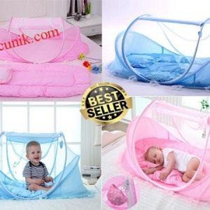 Jual Tempat tidur kasur bantal bayi + kelambu sepaket murah