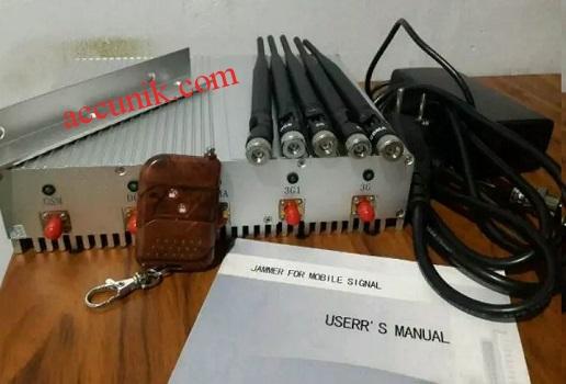 Jual jammer pengacak sinyal 5 antena remote alat penghilang sinyal handphone