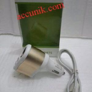 Jual car charger Mobil 2 port USB + 1 lighter saver 12-24volt