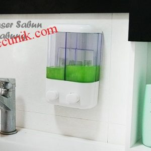 Jual murah dispenser sabun manual 2 tabung murah