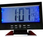 Jual jam digital meja sensor suara dan sentuh ukuran besar