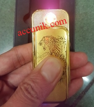 Jual korek elektrik USb new accunik murah gold LTG