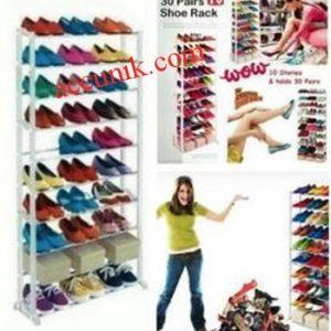 Jual rak lemari sepatu amazing shoe kapasitas 30 pasang