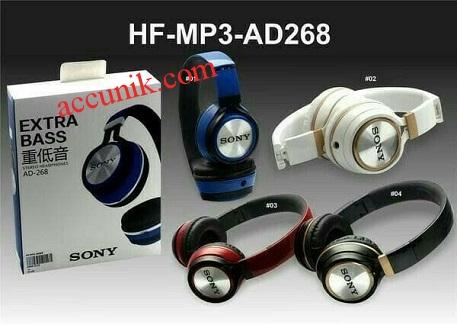 Jual Headphone AD-268 ekstra Bass murah SVT