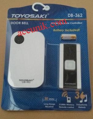 Jual bell wireless rumah tanpa kabel toyosaki 342 SVT