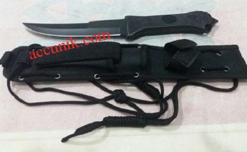 Jual pisau arab S18 sarung nylon Black
