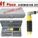 Jual paket obeng socket 41 set tool kit