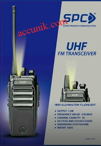 Jual Handy talkie SPC H10 HT UHF single band (bisa conect Baofeng)