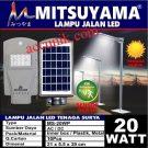 Jual lampu jalan PJU tenaga matahari solar panel 20 watt murah meriah + sensor