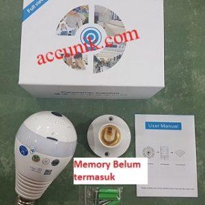 Jual wifi kamera tersembunyi fish eye lampu bohlam 360 accunik spy cam bohlam LTG