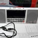 Jual speaker bluetooth FM radio jam digital fleco 1515 USB microsd portable speaker murah