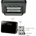 Jual kamera pengintai R7 jam meja digital Besar remote