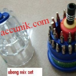 jual paket Obeng Handphone Mix 31 in 1 Lengkap murah model tabung
