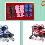 Jual Sepatu roda Inline skate murah decker ukuran L dan M