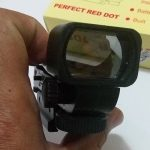 Jual Reflex red dot sight senapan airsoft gun lensa putih