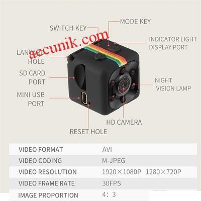 Jual kamera SQ11 spycam DVR Night vision HD 1080 pengintai
