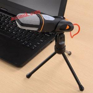 Jual murahMic Karaoke Microphone 3.5mm Laptop komputer microphoneCondenser Singing smule SF666DGP