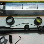 Jual Teropong senapan Sniper Bushnell gold 3-9×40 flip RGB Zoom