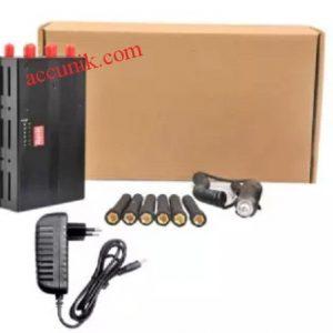 JualJammer portabel 6 antena penghilang sinyal 2G-4G Portable Lengkap non wifi jammer