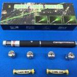 jual green Laser Pointer laser hijau 5 mata Variasi eceran