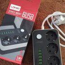 Jual Ldnio charger soket 6 USB + 3 power universal listrik charger aman murah dan hemat