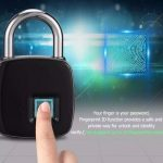 JualGembok sidik jari digital Finger print padlock gembok unik langka keren nan cangih