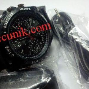 Jual Kamera Pengintai jam tangan Spy cam kamera tersembunyi kamera mini jam tangan 8 giga karet
