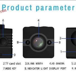 Jual Kamera pengintai tersembunyi Tahan air kamera Spy cam Infra merah SQ12 unik kecil
