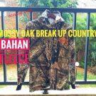 Kaos baju berburu kamuflase Mossy Oak fleece lengan panjang Murah HRY