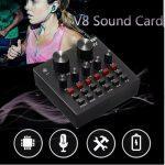 Jual Mixer Audio murah Mixer suara External Sound Card Audio V8LTG
