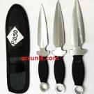 Pisau lempar pisau kunai 1050 isi 3 pcs termasuk sarung nylon