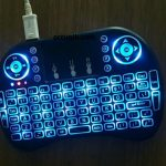 Mini Keyboard i8 Wireless Touchpad Original with Color RGB Unt TV box dan komputer